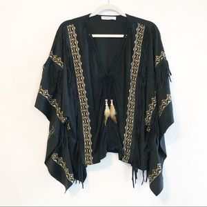 Laurie & Joe Fringe Embroidered Pocahontas Top